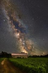 Milky Way over log barn - (Explored) (Rudy in Ottawa) Tags: