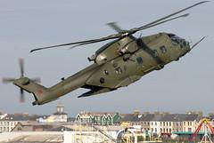 ZJ131 (GH@BHD) Tags: zj131 ehindustries agustawestland eh101 merlin raf royalairforce helicopter chopper rotor military aircraft aviation portrush