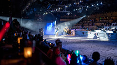 The actors swapped colors a bit for our second performance of the week. (kuntheaprum) Tags: medievaltimes dinnershow horse sword lance joust nikon d750 sigmaart 50mm f14