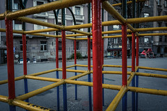 Cube (Master Iksi) Tags: cube playground colors red yellow blue park fun joy happy pattern view belgrade nikond7100 sigma1750 abstract