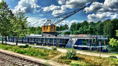 The historical harbor crane
