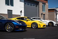 Wheels (Hunter J. G. Frim Photography) Tags: supercar colorado ferrari f430 v8 italian black yellow giallo nero coupe ferrarif430 hre f12 berlinetta v12 tdf blue white bianco blu tour de france adv1 ferrarif12 ferrarif12berlinetta blutourdefrance tdfblue
