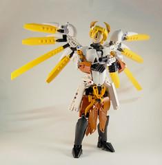 Overwatch - Battle Mercy (0nuku) Tags: bionicle lego overwatch ow mercy angela zeigler support healer angel caduceus