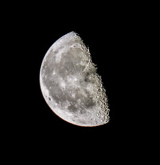 handheld moon last night (I was blind now I see!) Tags: moon lunar astrophotography half sky dark light bright