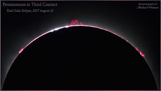 2017 Aug. 21 ~ Solar prominences at the end of totality, the Great American Eclipse