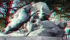 Sculpture by Auguste Cain Tuileries Paris (wim hoppenbrouwers) Tags: sculpture augustecain tuileries paris anaglyph stereo redcyan rhinoceros attaque par un tigre statue jardin des rhinocerosattaqueparuntigre jardindestuileries
