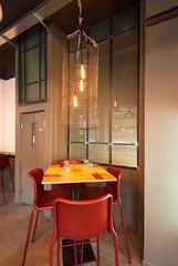 _DSC2100 (fdpdesign) Tags: pizzamaria pizzeria genova viacecchi foce italia italy design nikon d800 d200 furniture shopdesign industrial lampade arredo arredamento legno ferro abete tavoli sedie locali
