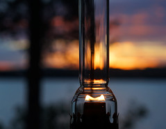 Oil Lamp (patrick.tafani) Tags: lamp lampe oil pétrole lampeàpétrole oillamp evening soir sunset