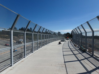 Fence Installation on New Galloping Goose Trail Bridge