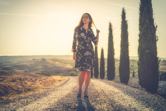 My Tuscan Sun (der_peste) Tags: woman women wife sun portrait tuscan tuscany sunlight shadow light beautiful cypress pointofview sanquiricod´orcia vald´orcia toskana love