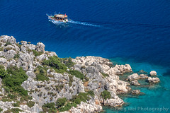 Ship Cruising On Mediterranean Sea, Kaleköy, Antalya, Turkey (Feng Wei Photography) Tags: traveldestinations eastasia exploration mediterraneansea explore turkeymiddleeast famousplace lycian simena centralanatolia travel outdoors antalyaprovince horizontal lycia sunny highangleview kekova colorimage sea cruise kaleköy euroasia kalekoy trip vacation turquoisecolored scenics mediterraneanturkey transparent turkishculture tourism tranquilscene turkish antalya turkey tr