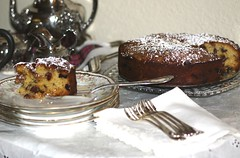 CHEZ SIMONE. Pear and Cherry Frangipane Cake (Traveling with Simone) Tags: frangipane pear cake dessert sweet gateau cherry cerises parve pareve hanks