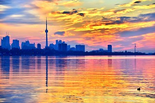 Sunrise on Lake Ontario, Toronto, ON