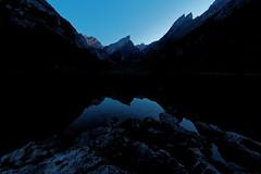 Blue hour at Seealpsee (eichlera) Tags: seealpsee switzerland swissalps mountains night nightfall bluehour sky stars lake water reflection breathtakinglandscapes