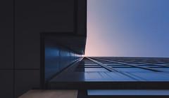 Hot & Cold (Darren LoPrinzi) Tags: canon5d manhattan ny nyc newyork newyorkcity urban city miii canon 5d perspective lookingup lookup architectural architecturalabstract light sun horizontal pano panorama panoramic midtown building skyscraper windows shapes geometry geometric