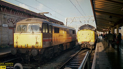 87022 and 37420 (dave hudspeth photography) Tags: railway train nostalga diesel track transport britishrail iconic davehudspethgrey red blue gner crewe york newcastle