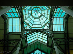 Mall Atrium (Raphael de Kadt) Tags: mall atrium geometric geometry ceiling skylight architecture symmetry lines glass