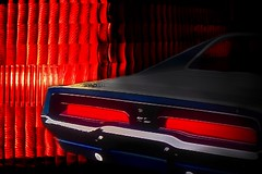 Mopar Madman (MoparMadman63) Tags: photoshop illusion illuminated taillight red creative collage