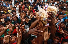 Myanmar protesters try to block aid to Rohingyas (thedailystarnews) Tags: rohingya refugees jostle muslims rakhine state