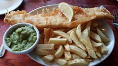 Cod & Chips With Mushy Peas. (ManOfYorkshire) Tags: fishchips cod fish chips papasrestaurant takeaway willerby hull beverley uk no1 bbc papas restaurant peas mushypeas £995 lemon