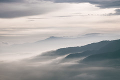 part of me, apart from me (STEPtheWOLF) Tags: morning daybreak fog valley mountain forest layers sky clouds austria styria canon 5d3