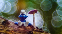 Smurf's land (YᗩSᗰIᘉᗴ HᗴᘉS +12 000 000 thx❀) Tags: smurf champignon macro fungus smile mushroom bois forêt hensyasmine schtroumpf
