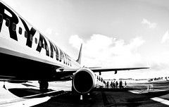 Ryanair.  Newcastle International airport. (CWhatPhotos) Tags: ryanair cwhatphotos flight flights delays delay ryan air clouds cloud sky above skies olympus omd em10 digital camera photographs photograph pics pictures pic picture image images foto fotos photography artistic that have which with contain