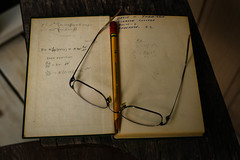 Memories - college days - Clemson, S.C. (DT's Photo Site - Anderson S.C.) Tags: canon 6d sigma 50mm 14 art lens clemson andersonsc upstate college university knowledge reference math chemistry textbook freshman glasses pencil education 1950s vintage southern