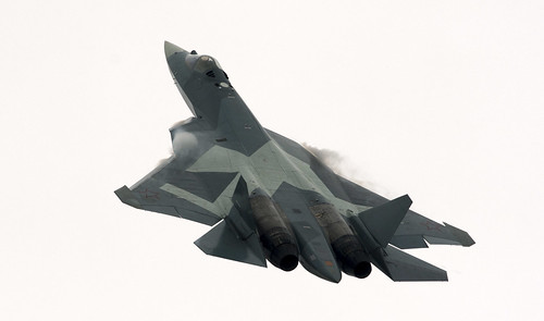 Russia's stealth fighter aircraft, the fifth-generation Su-57