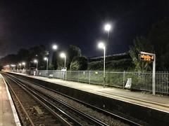 Kew Bridge Station at night (dksesh) Tags: seshadri dhanakoti harita appleiphone7 appleiphone iphone7 kewbridge stationplatform nightshot lamps sesh seshfamily haritasya hevilambisamvatsara apple iphone kewbridgestation kew platform nightphotography light