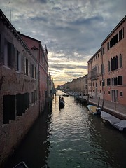 Gondola - Venice, Italy (ashabot) Tags: venice veniceitaly europe alone evening canal venicecanal gondola