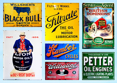 BEAMISH ENAMEL SIGNS MONTAGE  # 2 (tommypatto : ~ IMAGINE.) Tags: enamelsigns beamish museums