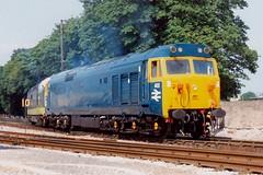 50002 + 55016 Paignton 21.06.92 (jonf45 - 3 million views-Thank you) Tags: trains railway br british rail diesel locomotive class 50 hoover blue 402 green 55016 55 deltic paignton dartmouth 1992