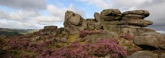 Outcrop II (Explored) (westoncfoto) Tags: peakdistrict surprise heather rock edge moor