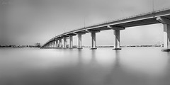 Aesthetics (JDS Fine Art Photography) Tags: bw bridge panorama stitchedpanorama aesthetics beauty architecture design water beach landscape urbanlandscape symmetry