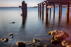 Derelict (Anthony P26) Tags: category erdek places seascape sunset travel turkey longexposure rocks seashore seaside beach structure derelict rust corrosion blurredwater sky coast coastline coastal water marmarasea bay outdoor canon1585mm canon70d canon