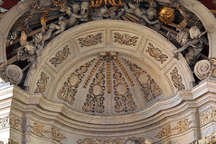 Hondschoote, Nord, Flandres, église Saint-Vaast, altar of the rosary, detail