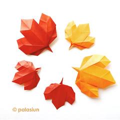 P70826-14131m0 (polelena24) Tags: origami leaf marple autumn