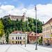 Ljubljana Castle Viewed from Congress Square, Ljubljana, Slovenia