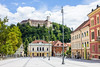 Ljubljana Castle Viewed from Congress Square, Ljubljana, Slovenia (MedCruiseGuide.com) Tags: ljubljana ljubljanaoldtown oldtown colors ljubljanacastle castle colorfulhouses colorfulbuildings buildings building sky bluesky blue green greenhills congresssquare summer summervacation cityview citywalk walk streets citycenter citystreets ljubljanacitycenter ljubljanastreets slovenia holiday houses hill house travel tourism