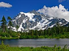 Mt. Shuksan (MoodyGoat) Tags: mountain cascades mtshuksan picturelake snowcappedmountains
