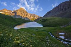 Middle Blue Lake Sunrise (Aaron Spong Fine Art) Tags: san juan juans sneffels mt mount wilderness blue lakes pass basin sunrise sunrises mountains rockies rocky s4