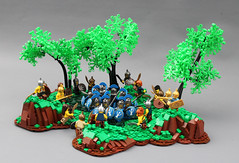 Thracian Ambush (Mark of Falworth) Tags: lego greek roman barbarian barbarians battle war landscape trees woods wilderness thracia mark falworth