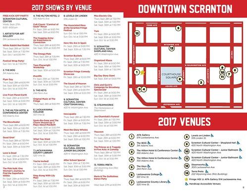 2017 Scranton Fringe Festival Schedule 1