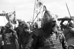 Warrior B&W (jcubic) Tags: nikon wolin viking slavic d610 28300 zoom bw black white blackwhite festival reenactment armour helmet