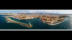 Chaniá Venetian Port - Ultra Panorama (markusmae) Tags: chania chaniá crete greece panzerphantom aerial venetian port harbour sea ultra panorama
