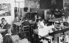 Milk Time (theirhistory) Tags: children school boys girls morning shirt jumper class classroom infants primary