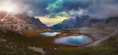 in the strings of fate (cherryspicks (off)) Tags: landscape mountains lake weather storm light dolomites torreditoblin trecime laghideipiani water