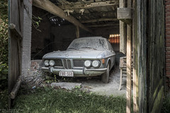 Shut up and drive (Dennis van Dijk) Tags: bmw german classic car old barn find dust rust lost found belgium urbex urban exploration maison manoir farm ferme house joe gandhi eu ue abandoned forgotten decay derelict moody beauty prescious