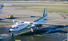 F-GCJV. Air Jet Fokker F-27 Friendship 600 (Ayronautica) Tags: 1990 february egph edi edinburgh turboprop airjet fokkerf27friendship600 fgcjv ayronautica aviation scanned